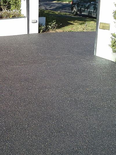 Exposed aggregate concrete down right concreting canberra Base for concrete driveway